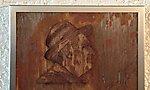 Portrait Corten mit Edelstahlrahmen