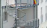 Balkonanlage mit Spindeltreppe